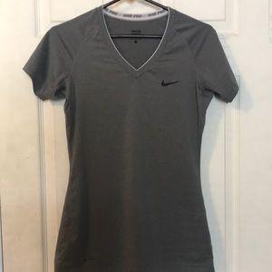 grey nike active top